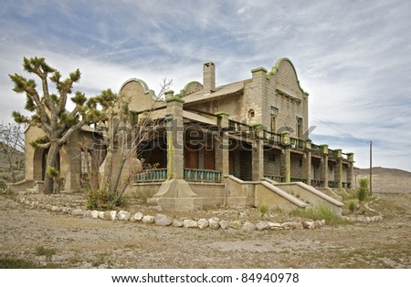 Train Station in Rhyolite, NV Ghost Town, also was a Casino.