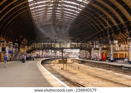 train station in York, UK - stock photo