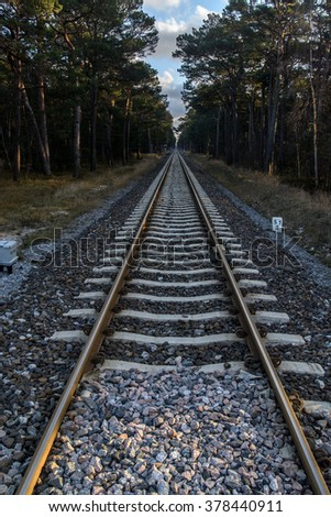 Train track - stock photo