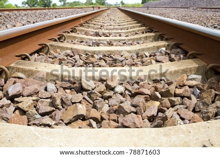 Train travel by train in the countryside. - stock photo