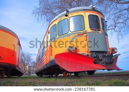 Train/Trolley permanently parked and in disuse. - stock photo