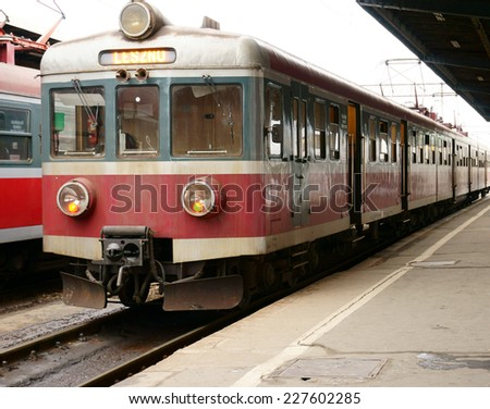 Train waiting for the passengers - stock photo