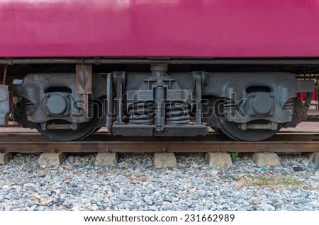 Train wheels - stock photo