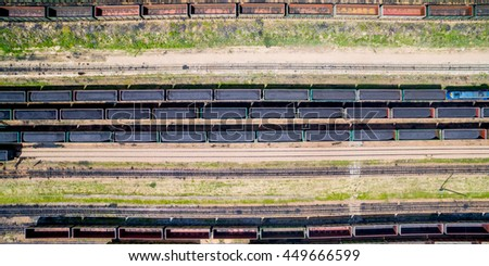 train with coal - stock photo