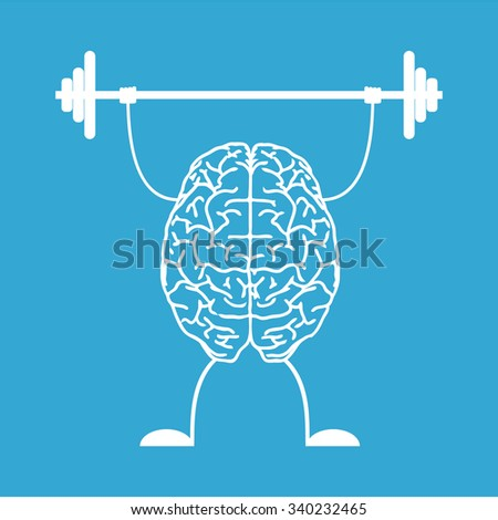 Train your brain. Creative concept illustration.  Raster version.  - stock photo