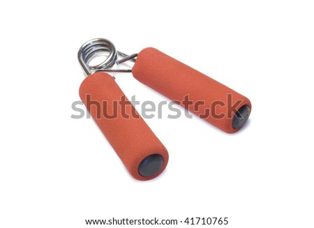 trainer for a hand isolated on a white background - stock photo