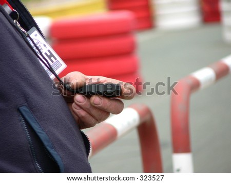 Trainer with stopwatch in hand. - stock photo