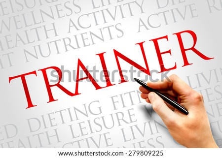 Trainer word cloud, health concept - stock photo