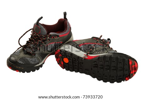 trainers isolated on a white background - stock photo