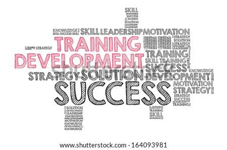 Training and development - stock photo