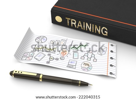 Training and development as a concept  - stock photo