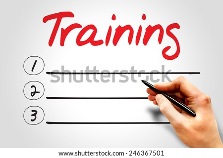 TRAINING blank list, business concept - stock photo