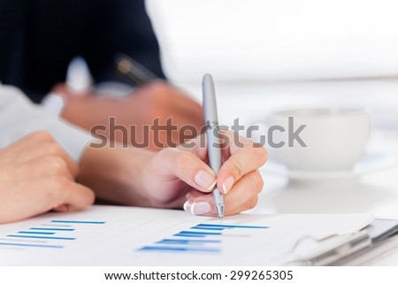 Training, business, report. - stock photo