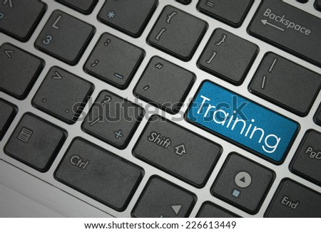 Training button on keyboard   - stock photo