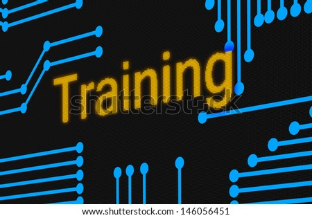 Training concept illustration as a digital screen - stock photo
