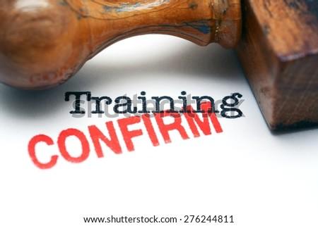 Training confirm - stock photo