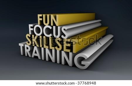 Training Course Focus on Skillset in 3d - stock photo