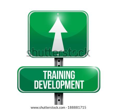 training development signpost illustration design over a white background - stock photo