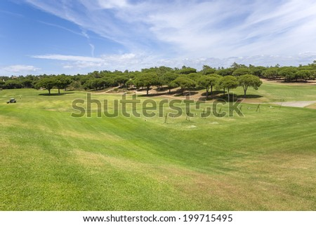 Training golf course in the Vilamoura, Portugal - stock photo