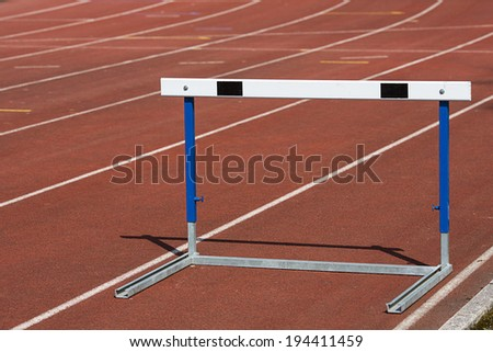 Training hurdles I - stock photo