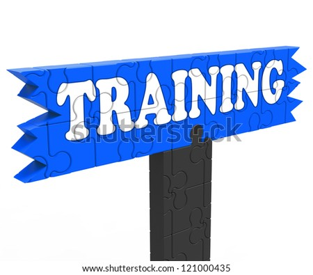 Training Shows Education Instruction Learning Or Coaching Skills - stock photo