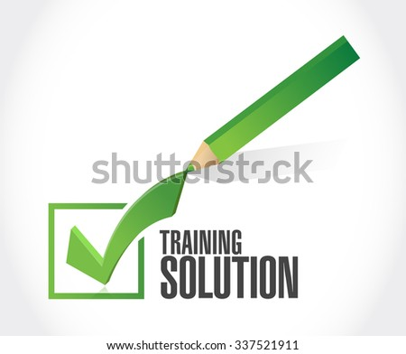 Training Solution check mark sign concept illustration design graphic icon - stock photo