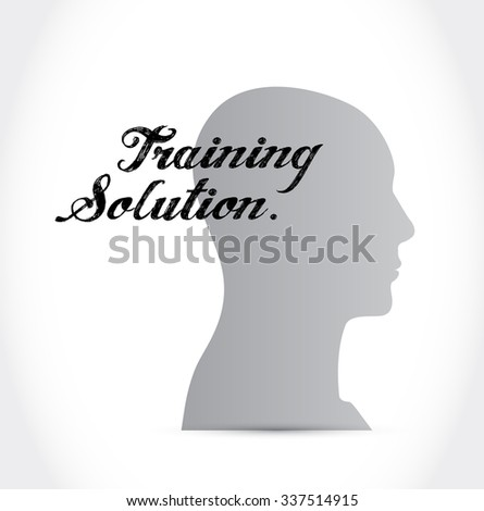 Training Solution thinking brain sign concept illustration design graphic icon - stock photo