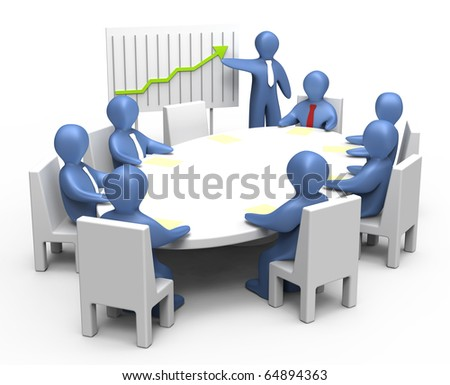 Training team. Education corporate workers. Business meeting. Business  development conference.  - stock photo
