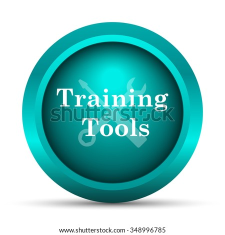 Training tools icon. Internet button on white background.