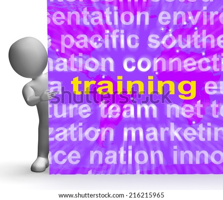 Training Word Cloud Sign Meaning Education Development And Learning - stock photo