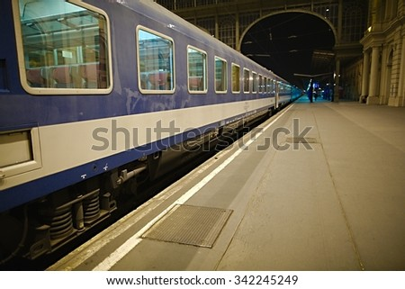 Trains wagons on a station - stock photo