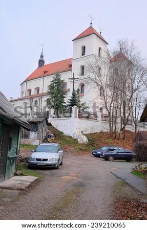 Trakai, Lithuania, November, 19, 2014: Church in Trakai, Lithuania. - stock photo