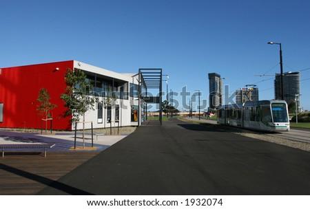 Tram at Melbourne (Australia) - stock photo