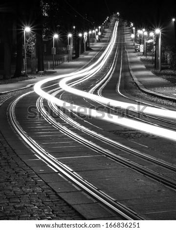 tram ride - stock photo