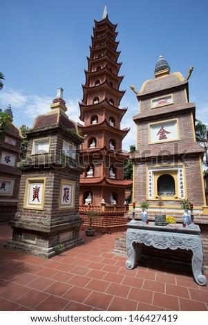 Tran Quoc Pagoda Hanoi - stock photo