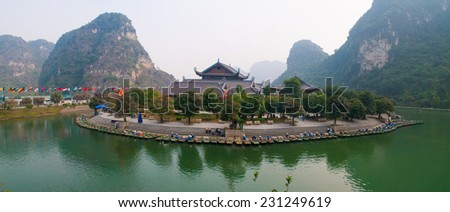 Trang An eco-tourist complex site  - stock photo