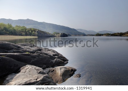 Tranquil Lake in Kerry, Eire - stock photo