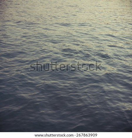 Tranquil sea water from top angle. An abstract nature background. - stock photo