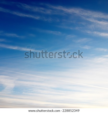 Tranquil sky background - stock photo