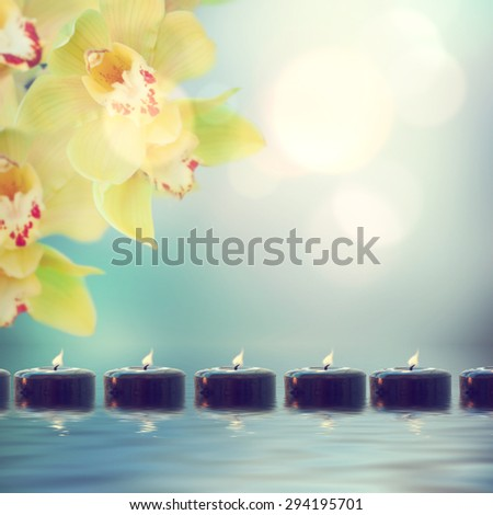 tranquil spa scene - stock photo