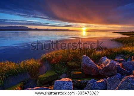 Tranquil waters  - stock photo