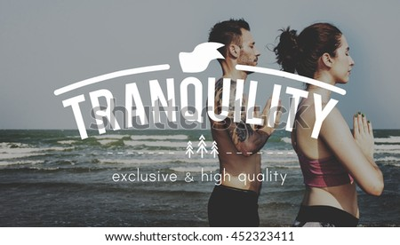 Tranquility Peace Quiet Solitude Freedom Concept - stock photo