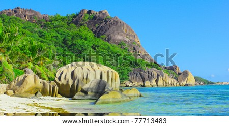 Tranquility Shore Jungle - stock photo
