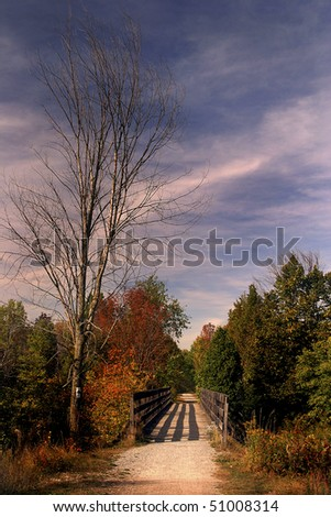 Trans-Canada Trail on Spring Afternoon - stock photo
