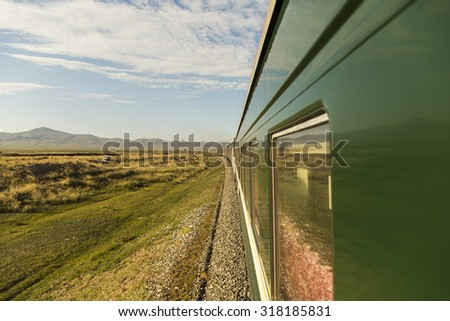 Trans-Mongolian Train Journey - stock photo