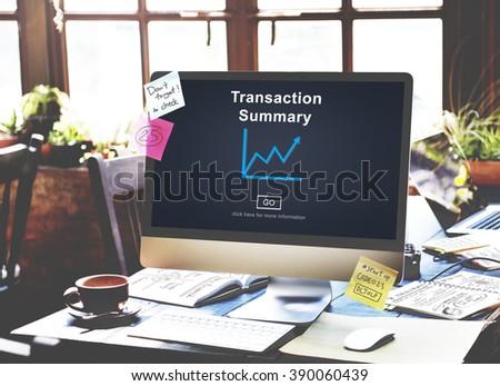 Transaction Summary Budget Balance Account Concept - stock photo