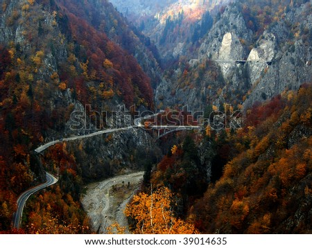 Transfagarasan - mountain high altitude road - stock photo