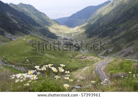 Transfagarasan Road, Romania Fagaras Mountains - stock photo