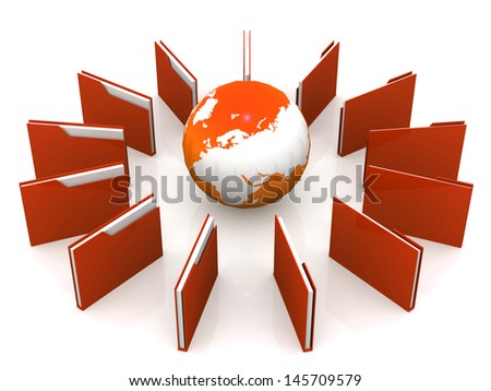 Transfer of documents - stock photo