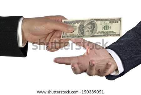 Transfer of money  - stock photo